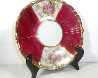 Vintage China Saucer, Reinstadt, Gold Trim   (1706-19)