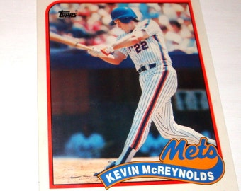 Vintage Collectible Baseball Folder, Kevin McReynolds, New York Mets, Topps, Back To School, Major League, Paper Ephemera, No. One  (233-14)