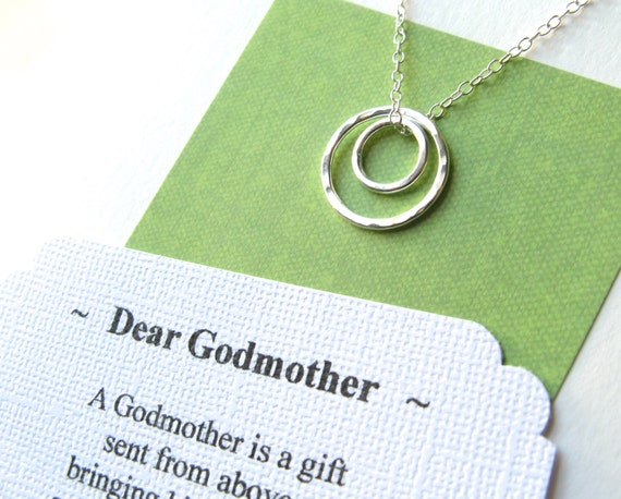 GODMOTHER Gift Necklace With POEM CARD By GloriousGirlJewelry