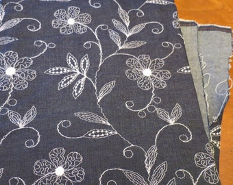 Vintage Fabric Embroidered Floral Lightweight