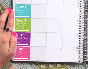 Cleaning Zone Sticker Printable - Instant Download - to fit your Erin Condren MonthlyBoxes