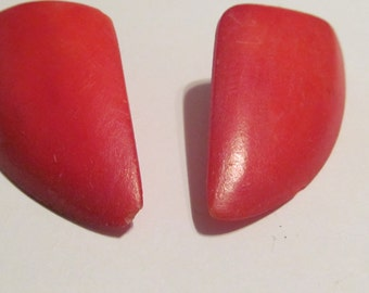 Red bone earrings