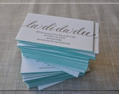 100 Calligraphy Letterpress Edge-Painted Business Cards