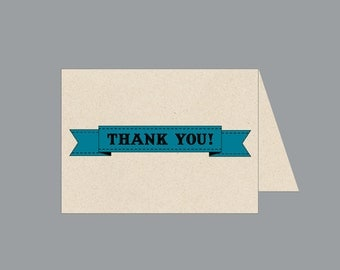 Thank You Notes Vintage Antique Victorian Edwardian Rustic Die Cut Banner Wedding Thank You Cards
