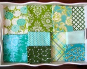 40x56 Blue Green Heather Bailey Throw Made to Order