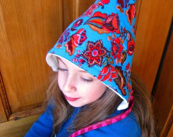 Gnome Hat - An organic fleece and corduroy winter hat - Ready to Ship size 2 to 5 years