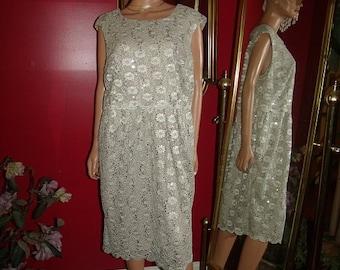 Vintage Lace  Dress Flapper  does 20-30s Theme  Tea Party  Size 16W