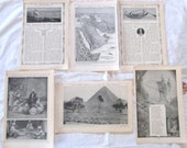 "vintage ephemera- MIDDLE EAST --antique prints from ""Book of Knowledge"" 1912 (5 pages)"