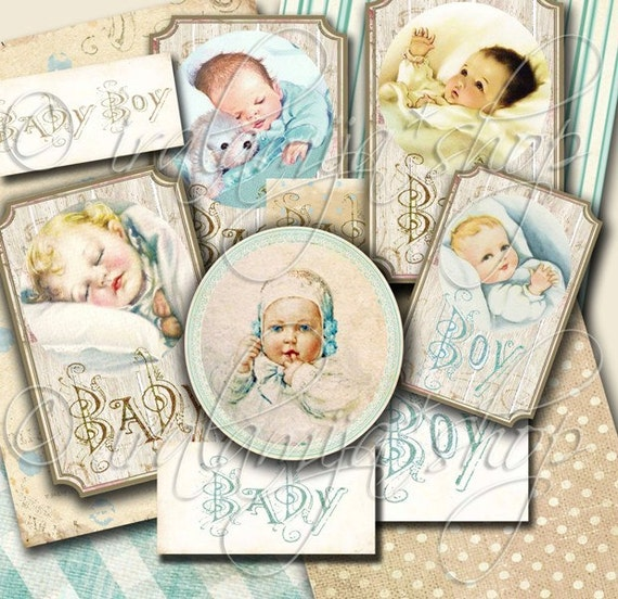 BABY BOY collage Digital Images -printable download file-