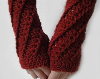 Fingerless Gloves Armwarmers Red Armwarmers Scarlet Red Crimson Armwarmers Texting Gloves Red Fingerless Gloves Womens -MADE TO ORDER