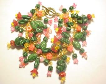 CACTUS GARDEN Glass Bead Bracelet