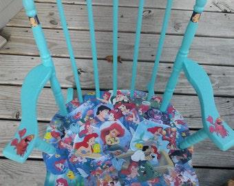 Decoupage Disney Little Mermaid chair