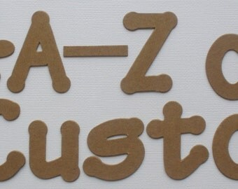 CHUNKY FONT -  Custom Die Cut Letters:  Bare Chipboard Alphabets -   Size  2""