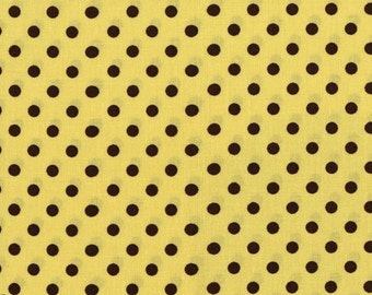 Fat Quarter - Dumb Dot Apple green brown Michael Miller Fabrics CX2490-APPL-D
