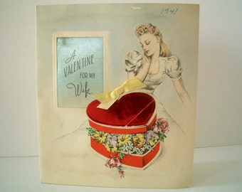 Vintage Valentine Card for Wife 1941