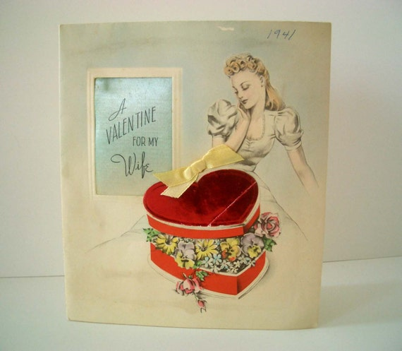easy valentine crafts vintage card for 1941 from redesignkc on 1941