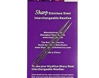HiyaHiya Sharp Stainless Steel Interchangeable Needle Tips 5ins / 12cm