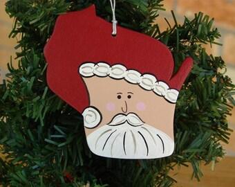 Wisconsin Santa Ornament