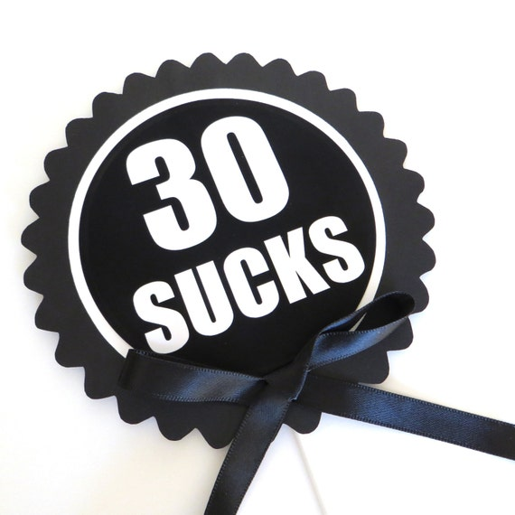 30th birthday cake topper 30 sucks cake decoration black for 30 cake decoration