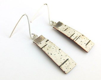 Small birch bark earrings, Saplings