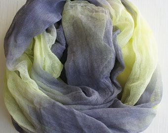 Cheesecloth, Newborn Wrap Photography Prop, Yellow and Gray Cheesecloth, Baby Wrap, Newborn Photo Prop, Newborn Cheeseclth Wrap, Gauze