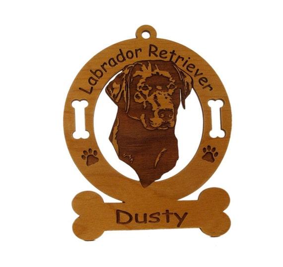 3481 Labrador Retriever Head 2 Personalized Dog Ornament