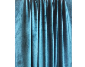 Curtains Ideas blue velvet curtains : Peacock blue velvet | Etsy