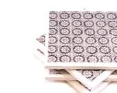 Tile Coasters - Black and Cream - Set of 4 Tile Coasters
