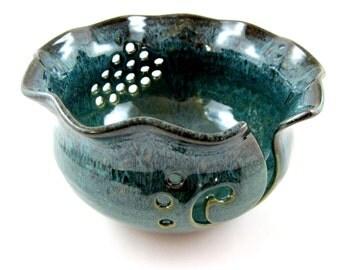 Yarn bowl, pottery yarn bowl, large yarn bowl - Made to order