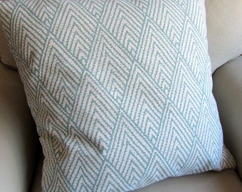 HORIZON BLUE ikat  designer decorative pillow cover 18x18-20-22-24-26