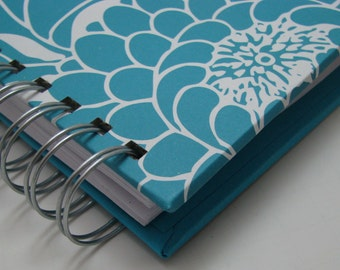 Thankful Journal/ Pocket Size/ Daily Gratitude/ Mini Journal/ Gratitude Journal/ Grateful Journal/ Year Journal/1 year/Bold Turquoise Floral
