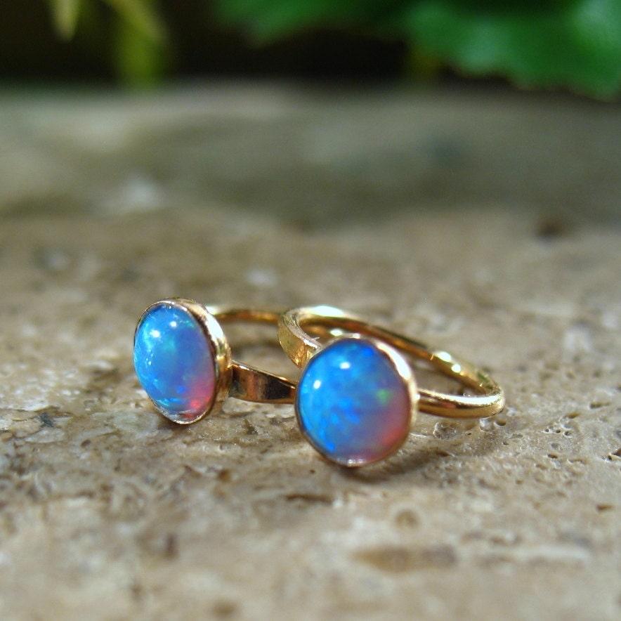 hoop earrings gold blue fire opal gemstone hoops gemstone. Black Bedroom Furniture Sets. Home Design Ideas
