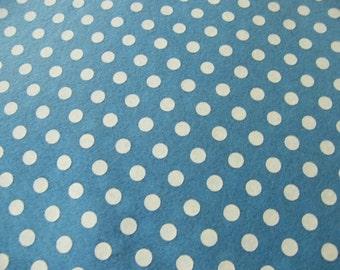 New SKY BLUE Polka Dots Felt