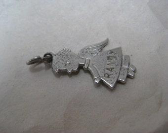Randy Boy Angel Sterling Charm Birth Silver Vintage 1967 925