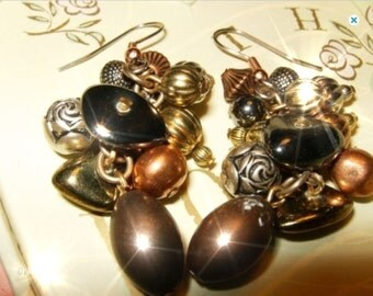 MIXED METAL Eclectic Earrings Free Shipping in USA