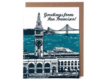 SALE -- Greetings From San Francisco -- Boxed Set of Six Cards