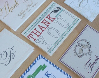 Wedding Thank You Cards - Thank you card, Thank you post card, Custom thank you card