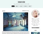 Premade Blogger Template - ENCHANTED SOUL - Responsive Template - Pinterest Hover Pin-It Button - Graphic Design - Blog Template