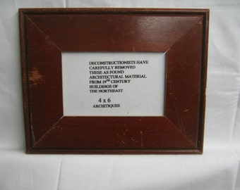 Reclaimed Wood Salvaged Picture Frame 4x6 NY- Salvage S-1750