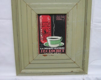 Extra Wide 4x6 Fluted Salvaged Recycled Wood Moulding Photo Picture Frame S1868-14
