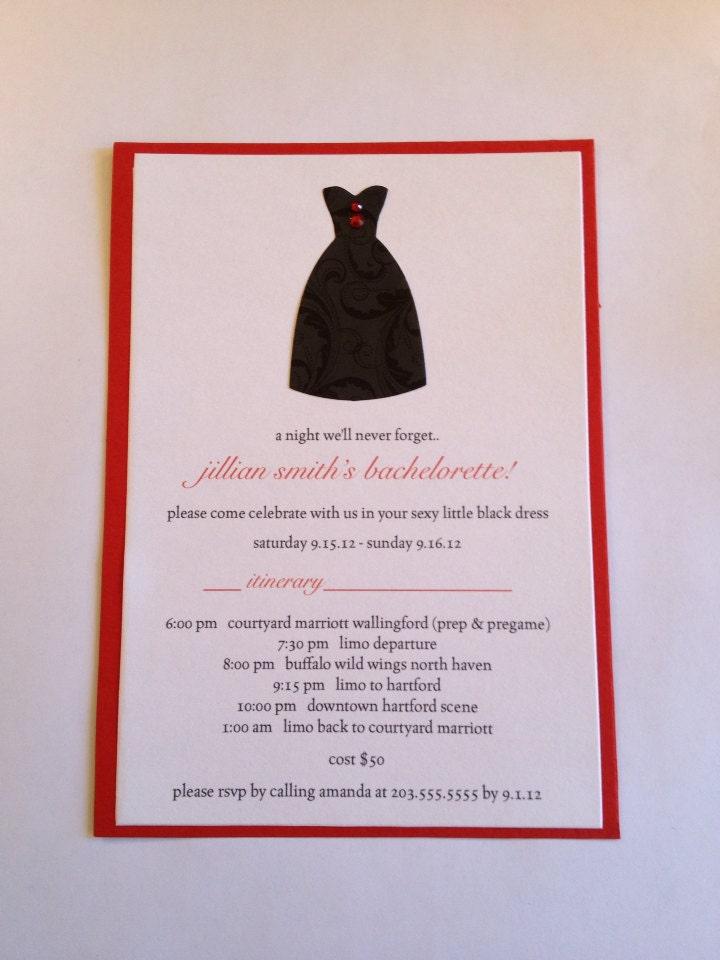 Little Black Dress Bachelorette Party Invitations. 39 ideas para ...