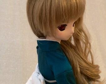 Teal Silk Fancy Wa Loli for SD Super Dollfie or Dollfie Dream DD