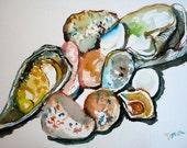 Original Watercolor Painting Still Life - Rocks
