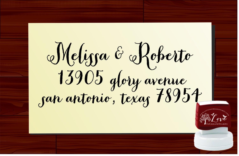 Return Address Stamp Self Inking Custom Calligraphy Envelope