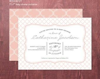 Typographic Baby Shower Invite - DIY printable party invite
