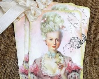 Pink Marie Antoinette Tags #582