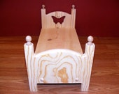Stackable Single American Girl Doll Bed with Butterfly 18 inch Furniture