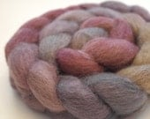 "Masham Top / Roving -  4 oz braid handpainted colorway ""Someone's Got To Milk The Goats"""