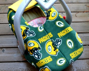 Green Bay Packers Baby Car Seat Cover By Sophiemarie