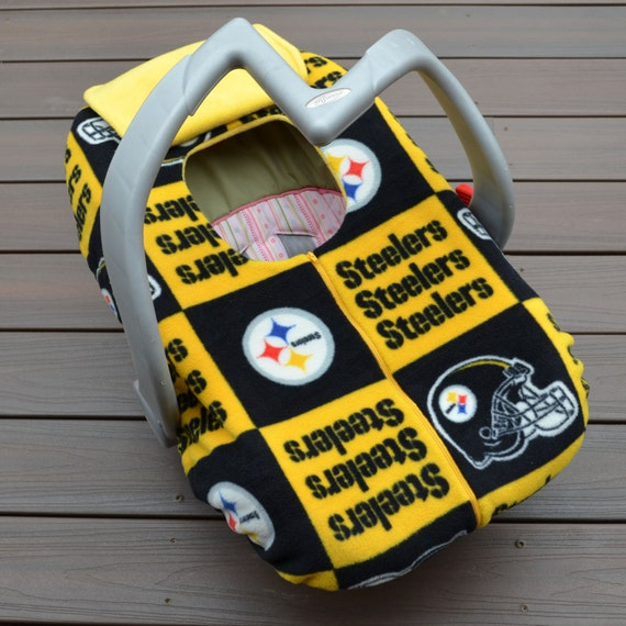 steelers baby carseat cover for autumn by sophiemarie this. Black Bedroom Furniture Sets. Home Design Ideas